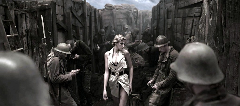 world-war-fashion-model-painting